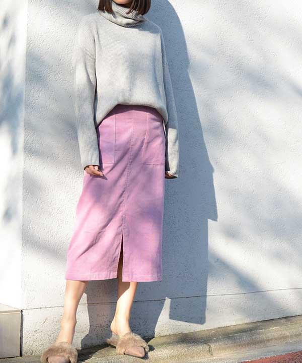 スカートの着痩せコーデ